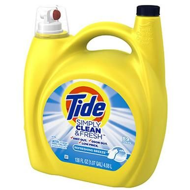 Tide 89131 138 Oz D Refreshing Breeze Scent Liquid Detergent Housewares Tide Simply Clean Liquid Laundry Detergent Cleaning