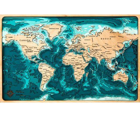 World Map 40 60 Woodenmap Tranh Ghep Gỗ V 2019 G Karta Mira