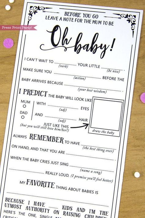 Find The Guest Game Baby Shower Games Diy Baby Shower