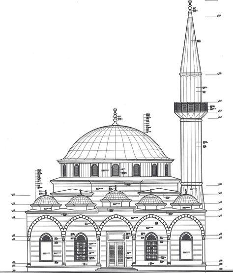 Cami Cizimi 7a193e Jpg 1480 1731 Mimari Cizim Taslaklari