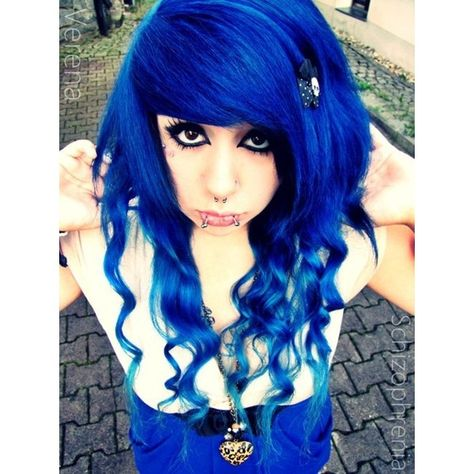 Verena Schizophrenia ❤ liked on Polyvore featuring accessories, hair accessories, hair, girls, people, blue hair, characters and blue hair accessories