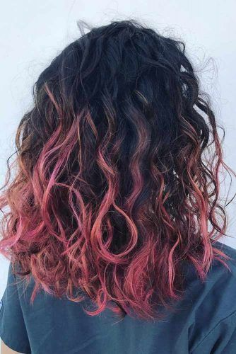 45 Pretty Pink Ombre Hair To Try Immediately Lovehairstyles Com Ombre Curly Hair Curly Hair Styles Naturally Pink Ombre Hair