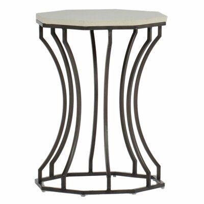 Summer Classics Audrey Stone Concrete Side Table Outdoor End Tables Glass Side Tables Outdoor Side Table