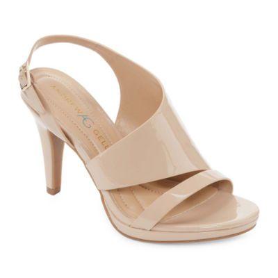 Buy Andrew Geller Womens Theola Pumps Open Toe Cone Heel At