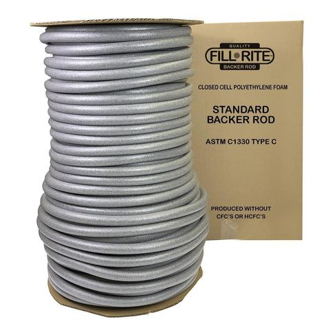 Fill Rite Pre Caulking Filler Rope Backer Rod Roll Bulk Sizes 1 3 4 1 2 1 4 Free Shipping Deck Curtains Expansion Joint