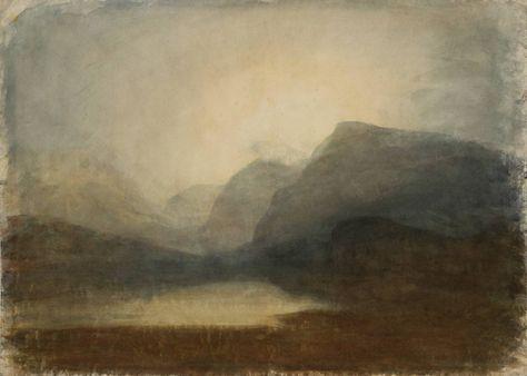 Joseph Mallord William Turner | View across Lake Llanberis towards Snowdon, 1799-1800