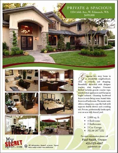 Home For Sale Brochure Template Luxury Apartment For Rent Flyer