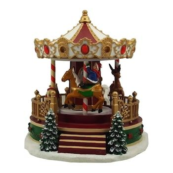 Christmas Carousel Recreation 2021 St Nicholas Square Village Christmas Carousel With Motion Music And Lights In 2021 Christmas Villages House Decor Rustic Country House Decor