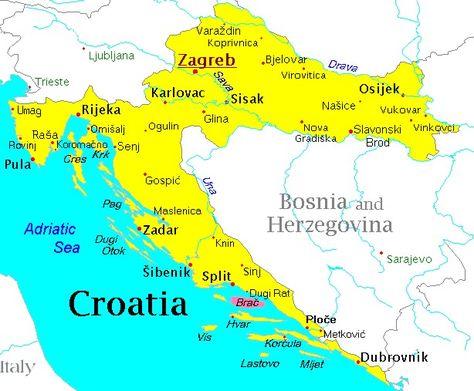 Mapa Croacia Buscar Con Google Croacia Mapa Turistico Mapas