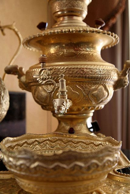 Persian Samovar, traditional hot water tank and tea pot