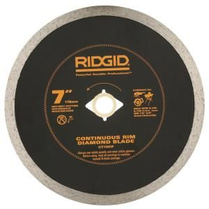 Ridgid 7 In Continuous Diamond Blade Hd Ct70cp The Home Depot In 2020 Diamond Blades Circular Saw Blades Diamond Tile