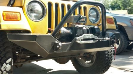 Made In Usa Our 87 06 Diy Jeep Wrangler Front Winch Bumper Kit Is