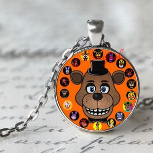 5 Five Nights at Freddy's Necklace Toys FREDDY FAZBEAR Scrabble Tile Pendant necklace glass cabochon children christmas gift