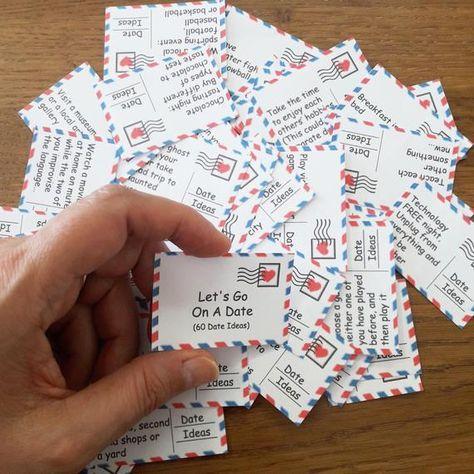 Date Night 60 Printable Cards Date Night Jar Valentines | Etsy