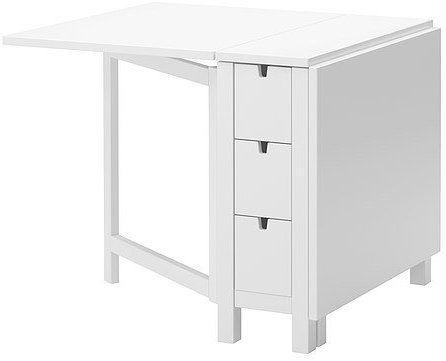 Cuscino Per Pc Ikea.Amazon Com Ikea Gateleg Table White 1626 2928 1014 Kitchen