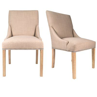 Rosalind Wheeler Hundt Upholstered Dining Chair Dining Chairs Upholstered Dining Chairs Solid Wood Dining Chairs