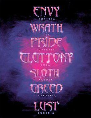Seven Deadly Sins Font : seven, deadly, Seven, Deadly, Ideas, Sins,