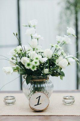 White Wooden Wedding Holzwerk Kreativatelier Hochzeitsdeko Birke Holz Tischdeko Hochzeit