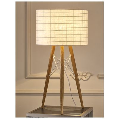 Whiteline Tl1486 Wht Table Lamps Whiteline Imports Amber Table Lamp Wooden Base And White Fabric Shade Tl1486 Wht Table Lamp Wood Cheap Table Lamps Wooden Table Lamps