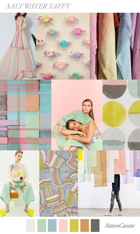 SALT WATER TAFFY - color, print & pattern trend inspiration for Spring / Summer 2019 by Pattern Curator. Pattern Curator is a trend service for color, print and pattern inspiration.
