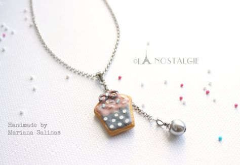 Cupcake Jewelry necklace adjustable Sugar by LaNostalgieFrance, €16.20