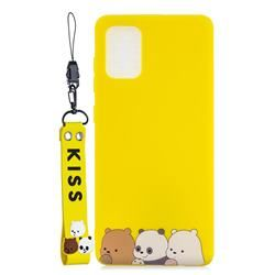Yellow Bear Family Soft Kiss Candy Hand Strap Silicone Case For Samsung Galaxy A51 4g Galaxy A51 4g Cases Guuds In 2020 Phone Cases Samsung Galaxy Samsung Galaxy Silicon Case