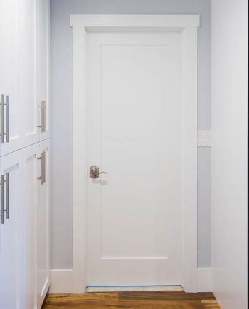 Primed White Solid Core 1 Panel Shaker Mission Style Interior Door In 1011 Ksr Door And Mill Comany Doors Interior Mission Style Panel Doors