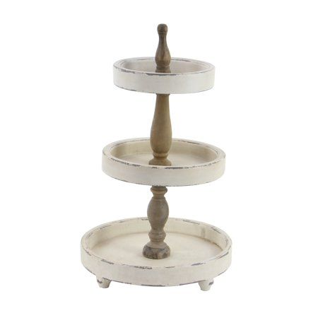 Home Tiered Tray Stand Tray Decor Wood Tray