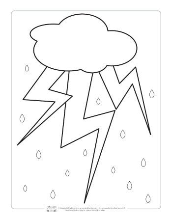 Weather Coloring Pages For Kids Coloring Pages For Kids Weather