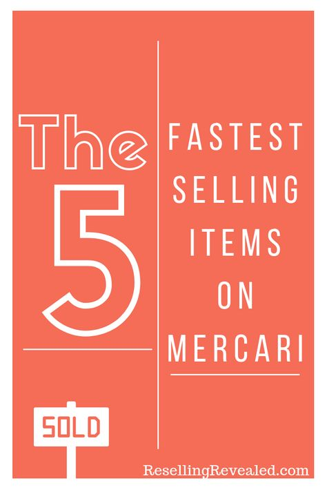 The 5 Fastest Selling Items on Mercari