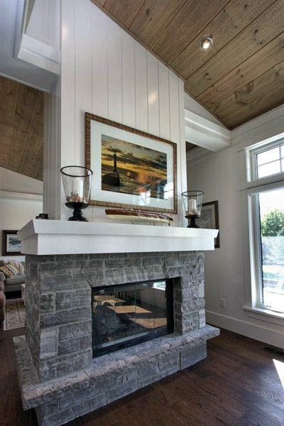 Savvy And Inspiring Double Sided Fireplace Installation Just On Smart Homefi Design Fireplace Design Shiplap Fireplace Double Sided Fireplace