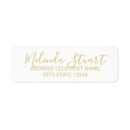 Professional Modern White And Gold Label Zazzle Com Wedding Labels Wedding Return Address Labels Unique Wedding Gifts