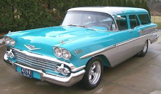 58 Nomad Turquoise Silver Classic Cars Trucks Classic Cars Trucks Hot Rods Station Wagon Cars