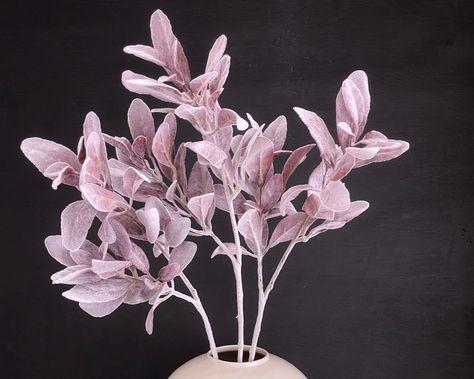 A set of 3 dusty pink lambs ear stems. #artificialflowers #fauxflower