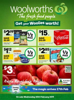 Woolworths Deals Sales And Coupons Fresh Food Pops Cereal Box