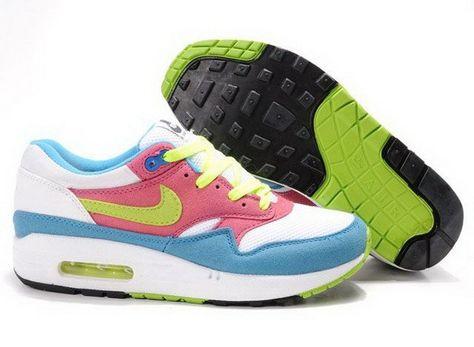 new style e77e0 897da Nike Air Max 1 Schuhe Weiß   Rosa   Blau Damen, 83 €