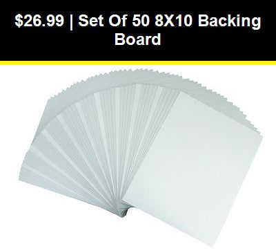 """The Display Guys ~ Pack of 50 5/""""x7/"""" Picture Backing Boards 50pcs White Backing Board Only"""