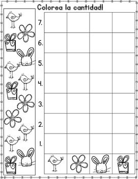 Graficas Spanish Spring Count And Graph It Kindergarten Activities Kinder Math Activities Math Strategies