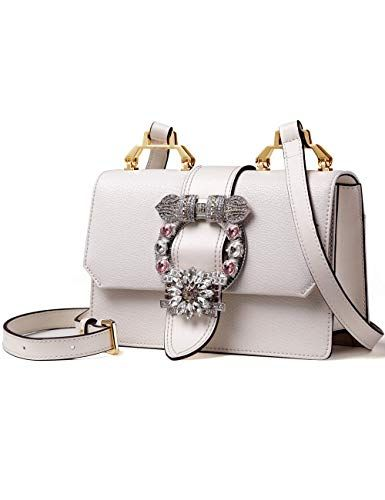 78c180149a5e LA FESTIN Ladies Cute Bags Dazzling Jewels Shoulder Chain Purse Leather  Shoulder  Bags