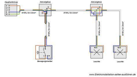 Schaltplan Eines Bewegungsmelders Mit Zwei Oder Mehr Lampen Bewegungsmelders Eines Lampen Mehr Mit Oder Schaltplan Bewegungsmelder Elektroinstallation