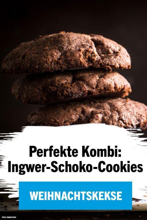 Perfekte Weihnachtskekse.Ingwer Schoko Cookies