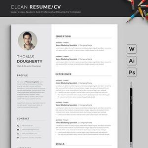 Professional Resume Template Modern And Creative Resume Etsy In 2021 Resume Template Professional Cover Letter For Resume Professional Resume