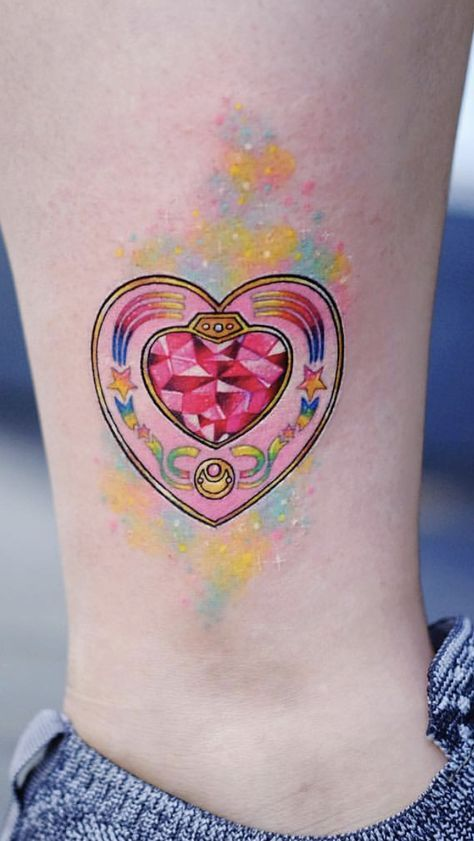 39 Best Heart Tattoo For Women Children In 2020 Sailor Moon Tattoo Moon Tattoo Designs Moon Tattoo