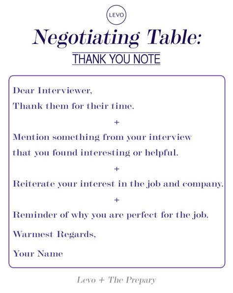 Negotiating Table The Interview Thank You Note Note, Job - thank you informational interview