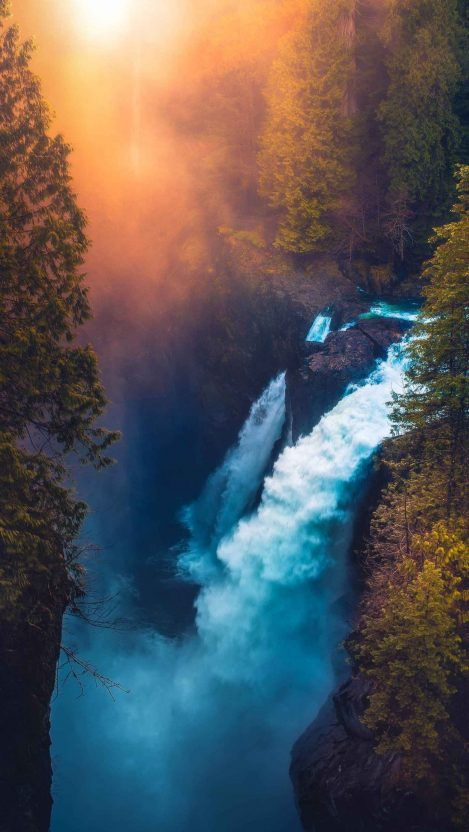 Waterfall River Iphone Wallpaper Beautiful Landscape Photography Waterfall Beautiful Nature Pictures