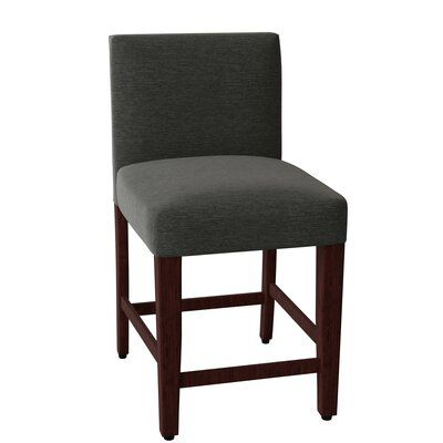 Hekman Kennedy 24 5 Bar Stool Body Fabric 1010 083 Leg Color French Roast Metal Footrest Protector Brushed Nickel Hekman Bar Stools Modern Bar Stools