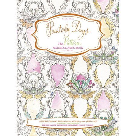 Books Watercolor Books Coloring Books Adult Coloring Book Pages