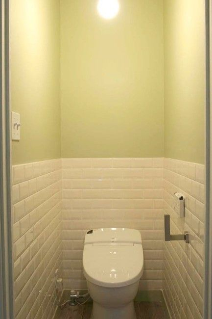 タイルを使ったお洒落リフォーム トイレ コーディネート トイレ 壁