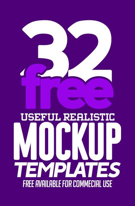 Free Mockups: 32 Useful Realistic Photoshop Mockup Templates | Freebies | Graphic Design Junction