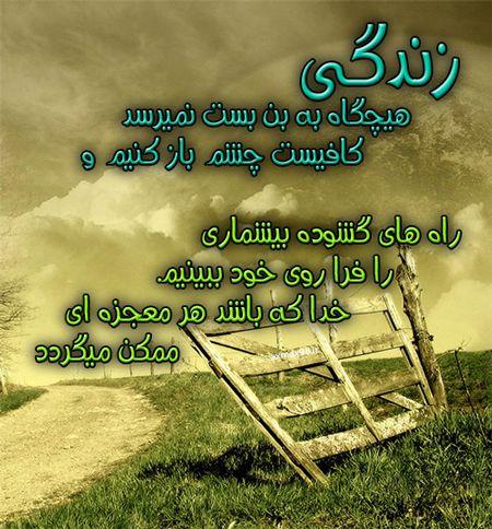 عکس نوشته امید به زندگی Persian Quotes Quotes Save